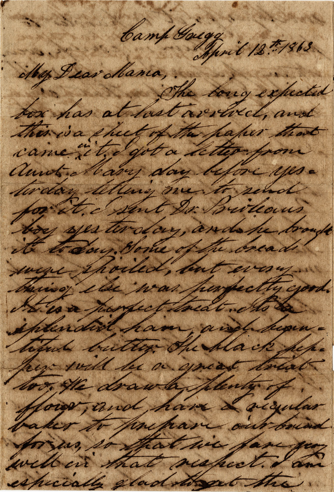 081. Willis Keith to Anna Bell Keith -- April 12, 1863