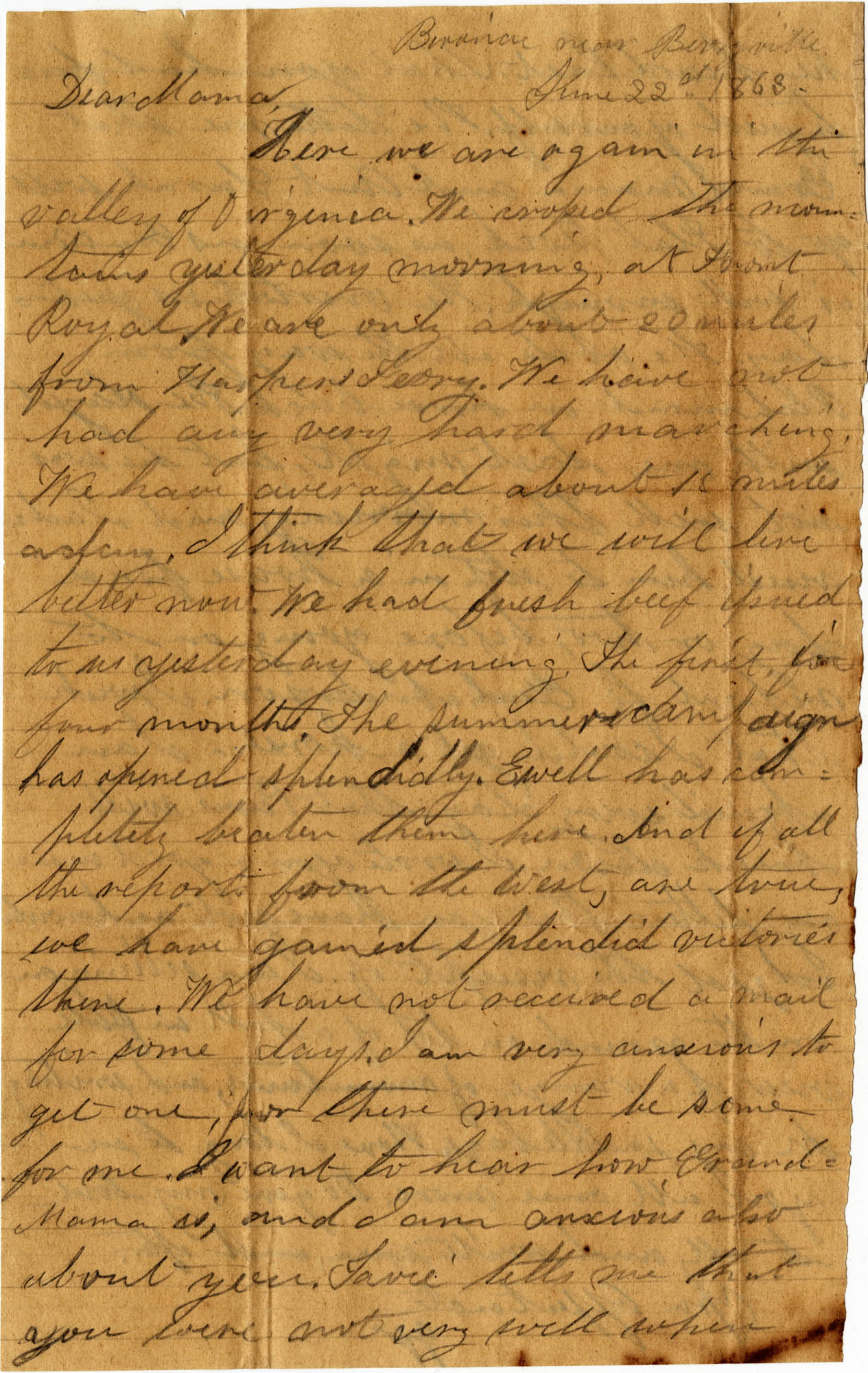 087. Willis Keith to Anna Bell Keith -- June 22, 1863