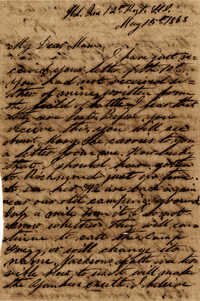083. Willis Keith to Anna Bell Keith -- May 15, 1863