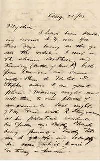 133. Alex Marshall to Magdalen Elizabeth Wilkinson Marshall (nee Keith) -- Aug., 23 1882
