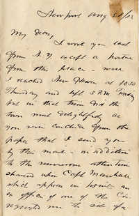 136. Alex Marshall to Magdalen Elizabeth Wilkinson Marshall (nee Keith) -- Aug., 28, 1882