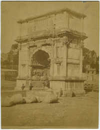 Roma - Arco di Tito con il Candelabro