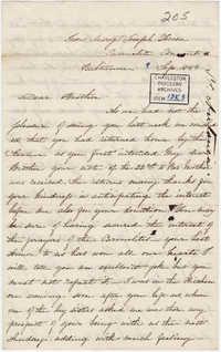 076. Madame Antonia to Bp Patrick Lynch -- September 9, 1859