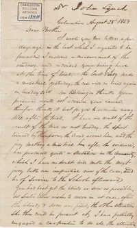 071. John Lynch to Bp Patrick Lynch -- August 28, 1859