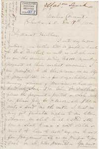 137. Madame Baptiste to Bp Patrick Lynch -- December 18, 1860