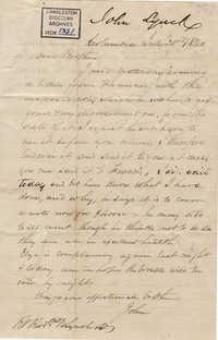 120. John Lynch to Bp Patrick Lynch -- July 23, 1860
