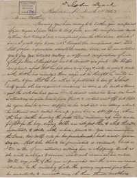 209. John Lynch to Bp Patrick Lynch -- March 17, 1862