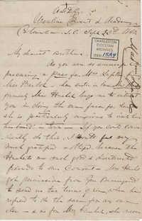 310. Madame Baptiste to Bp Patrick Lynch -- September 23, 1863
