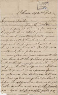312. Anna Lynch to Bp Patrick Lynch -- September 27, 1863