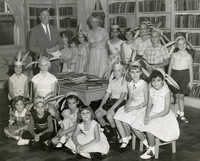 Summer reading closing exercises, Mt Pleasant (Village) Branch Library, 1957