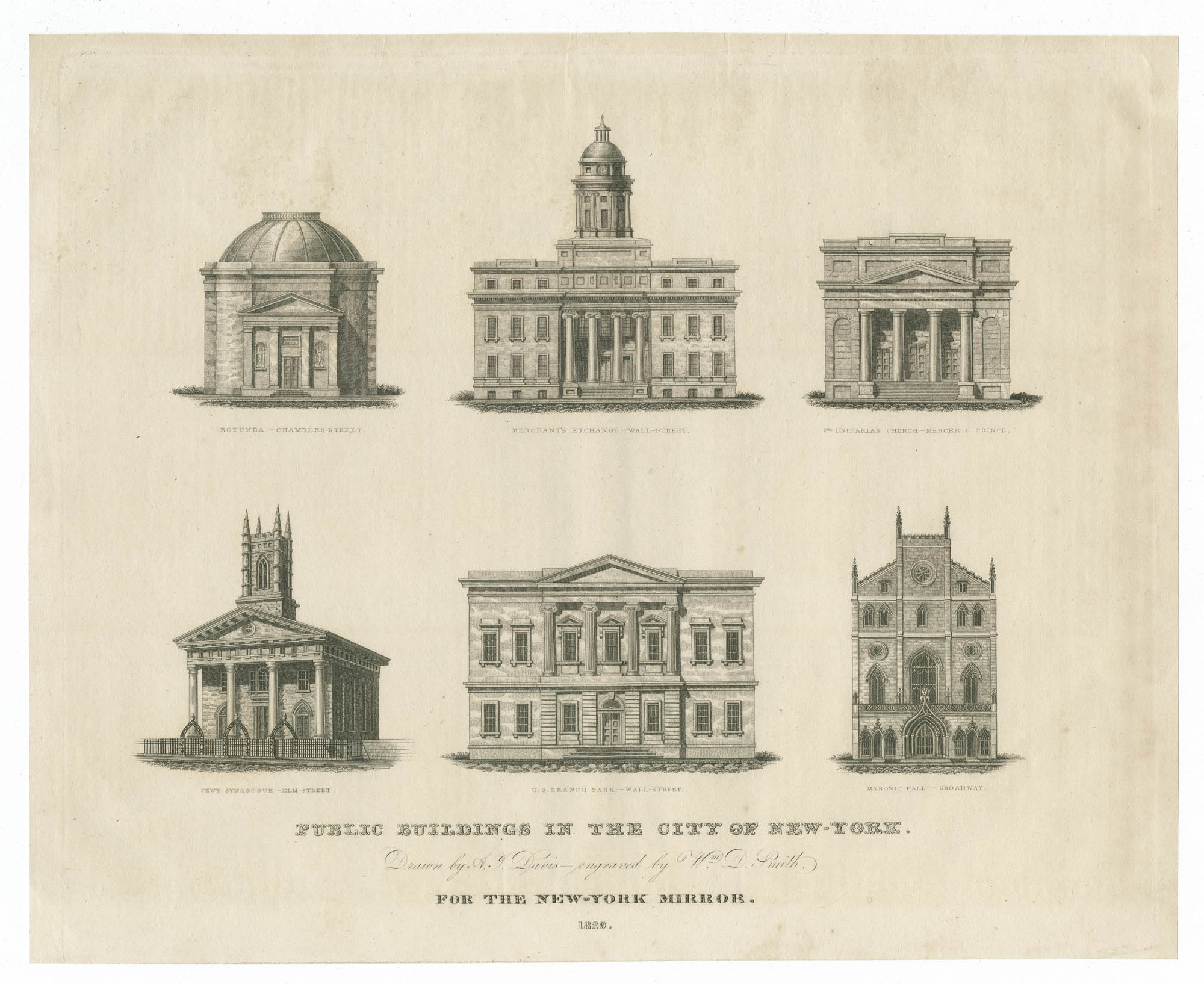 Public Buildings in The City of New York, for the New York Mirror
