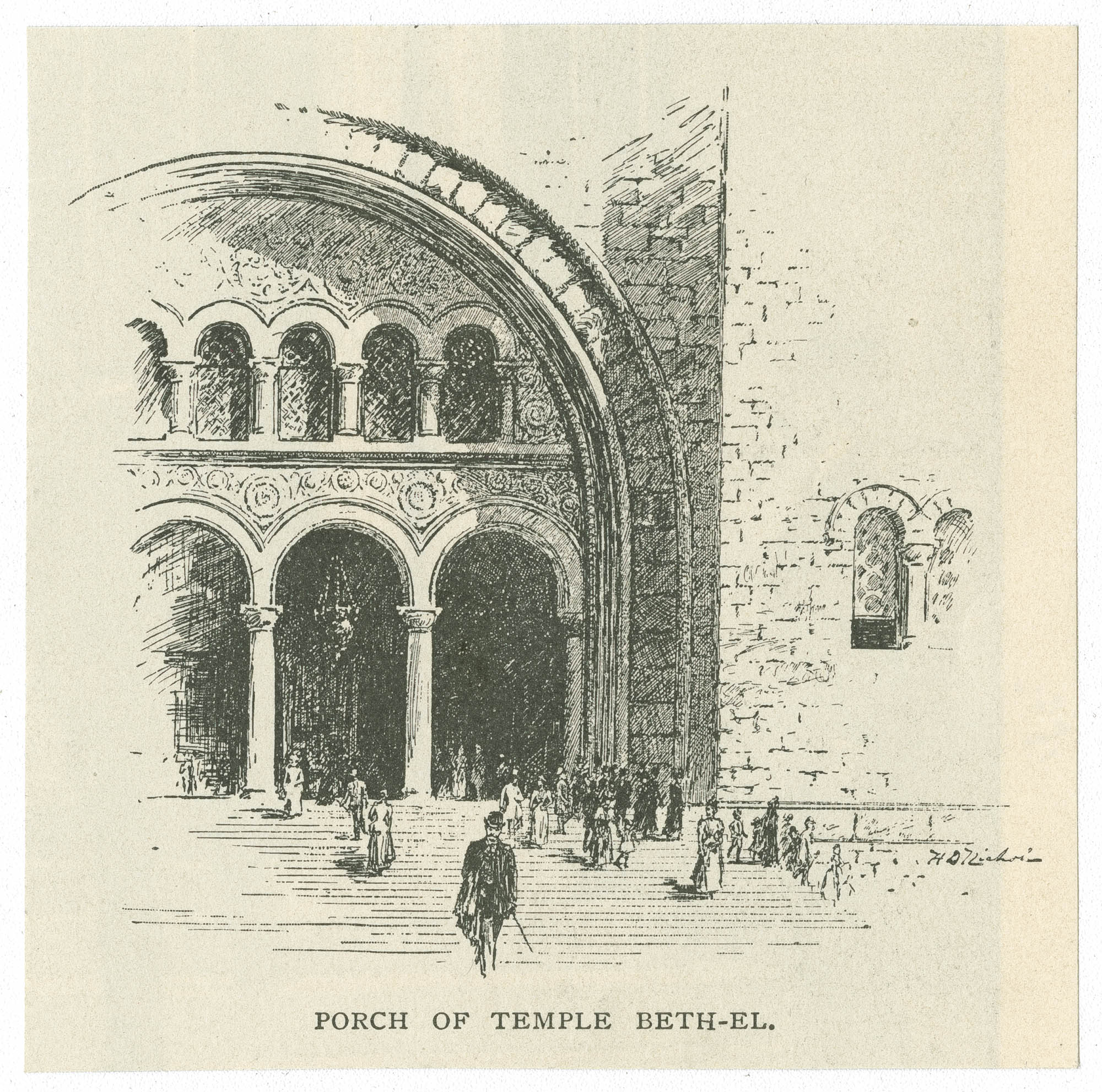Porch of Temple Beth-El