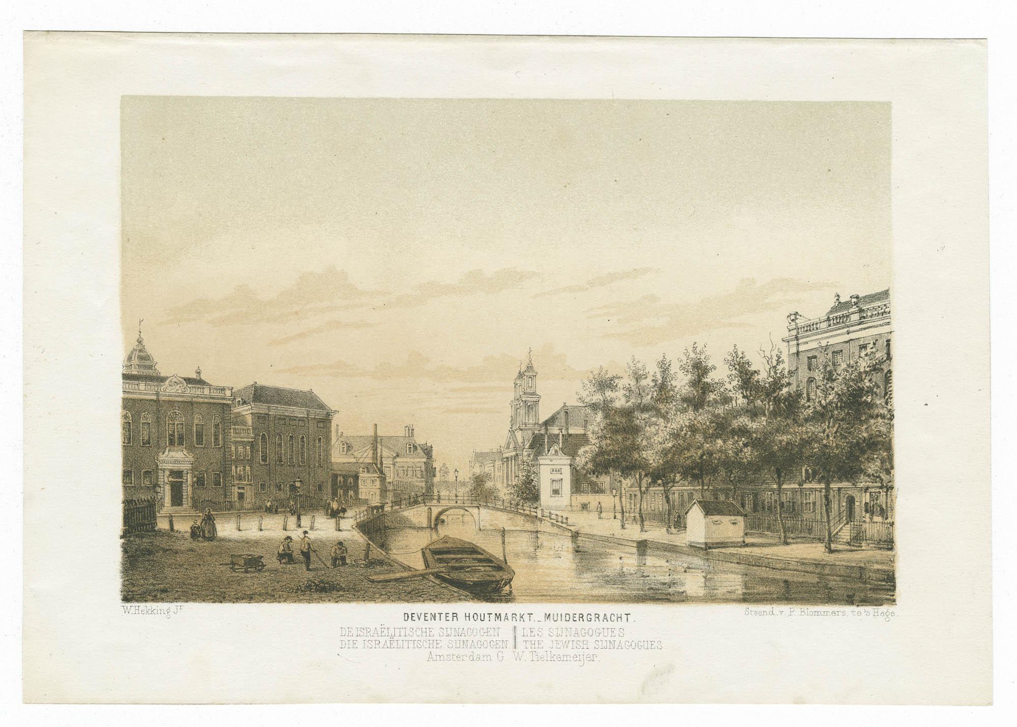 Deventer Houtmarkt. - Muidergracht.