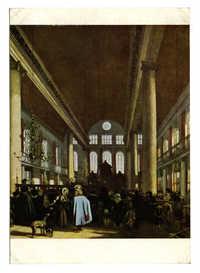 Emanuel de Witte (1617-1692) Interieur van de Portugese Synagoge te Amsterdam