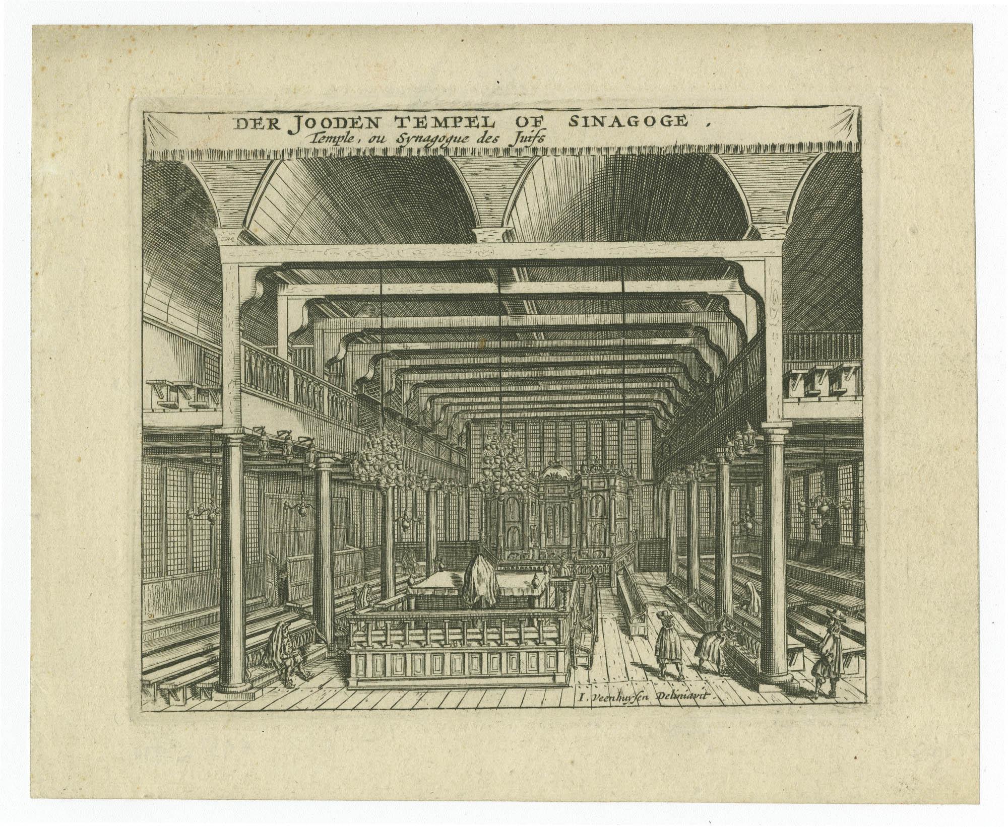Der Jooden Tempel of Sinagoge / Temple, ou Synagogue des Juifs