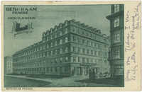 Beth-Haam Prague. Židovský lidový dům v Praze. / Jüdisches Volkshaus in Prag. / Maison populaire juive.