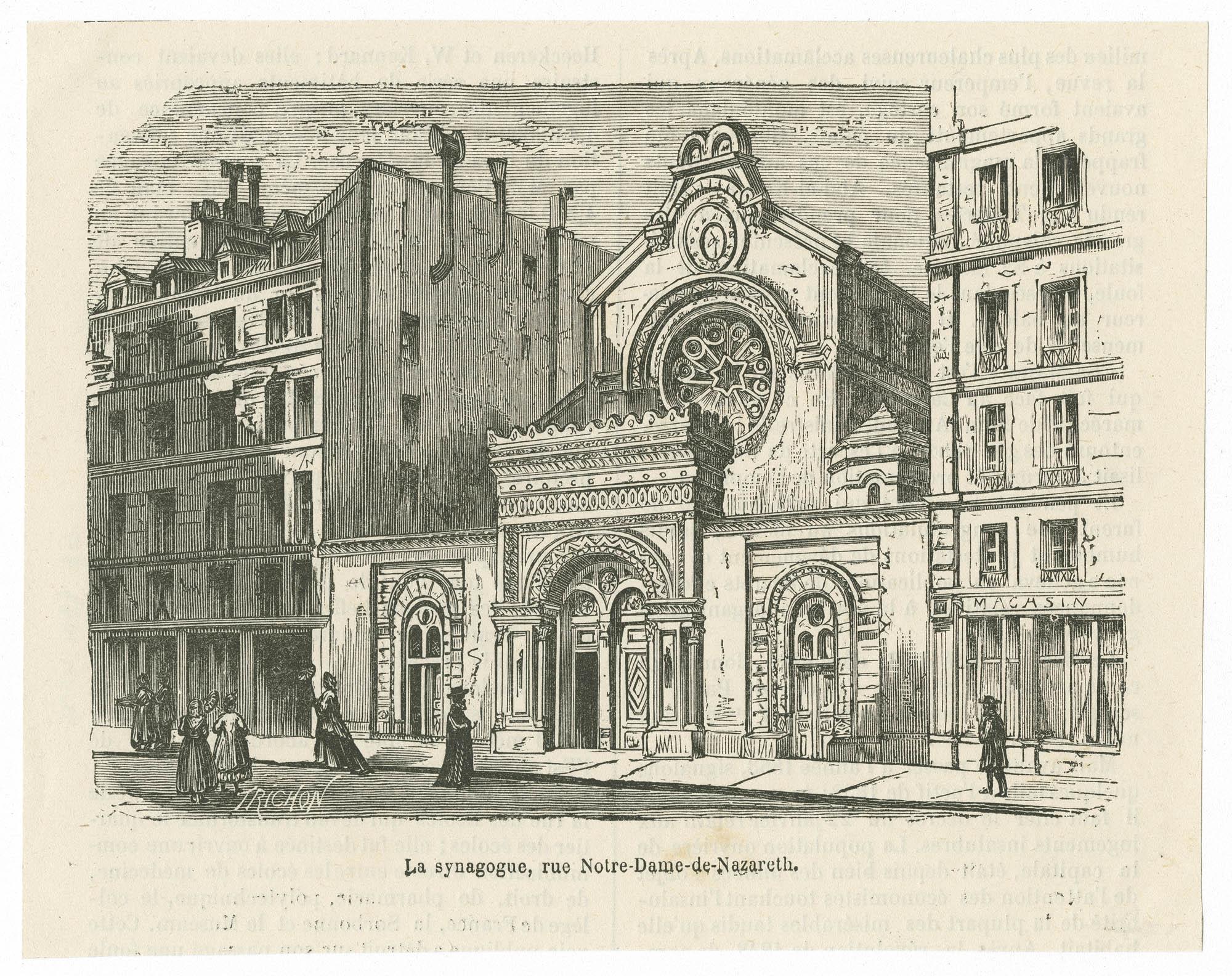 La synagogue, rue Notre-Dame-de-Nazereth