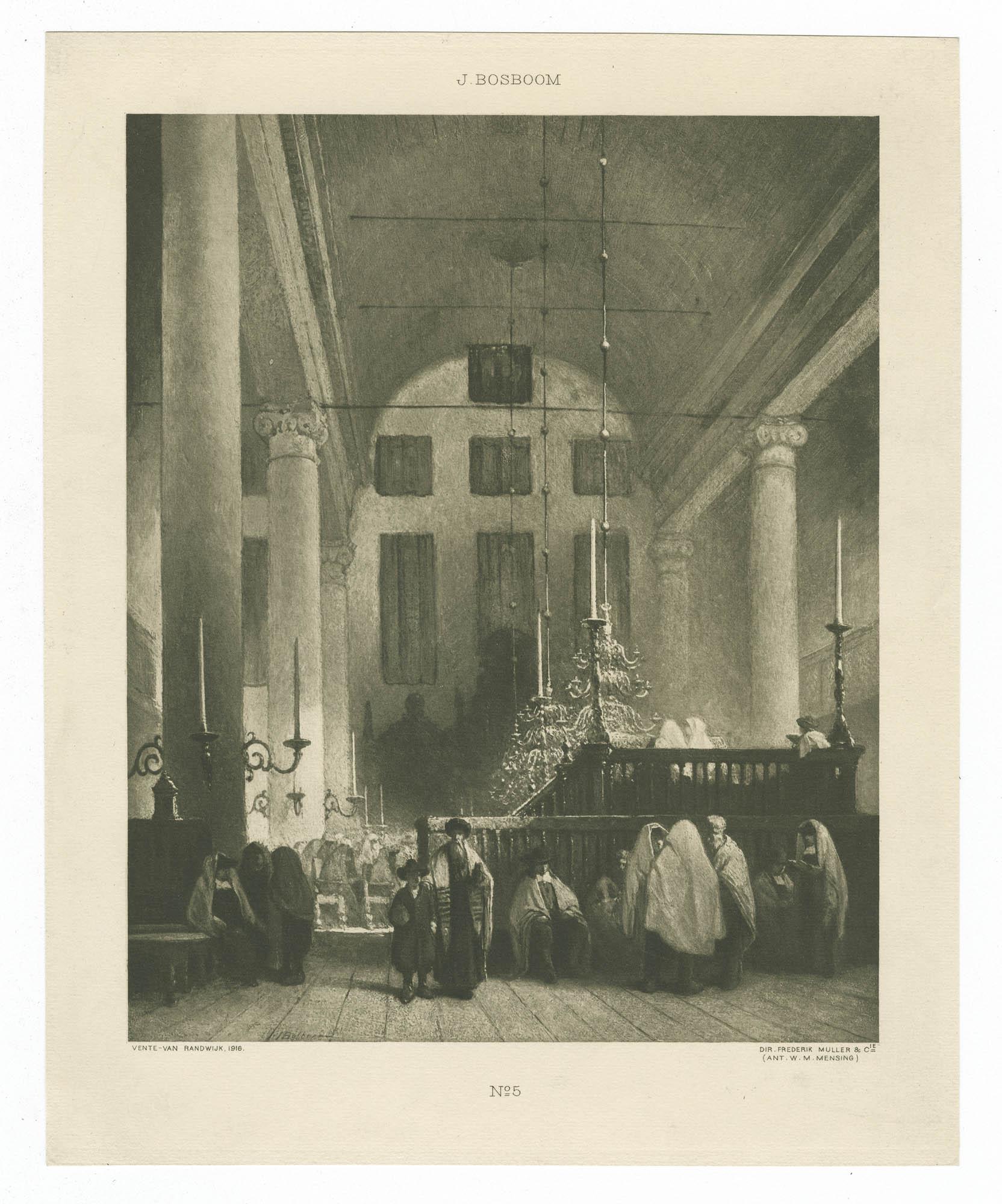 [Synagogue des Juifs Portugais à Amsterdam]