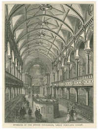 Interior of the Jewish Synagogue, Great Portland Street