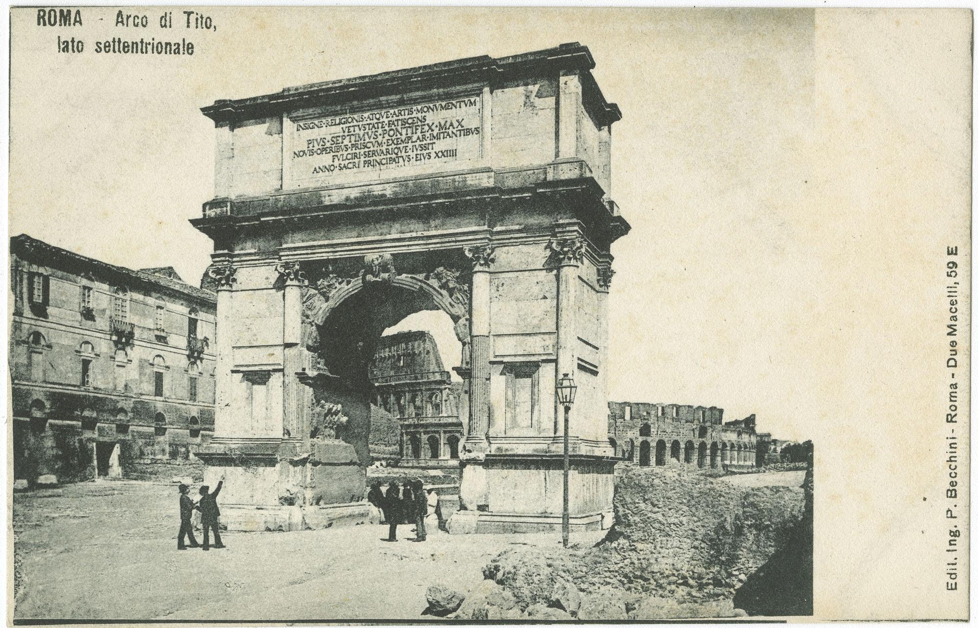 Roma - Arco di Tito, lato settentrionale