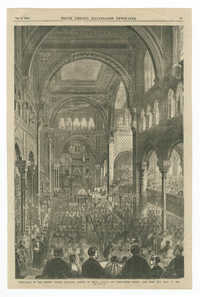 Dedication of the Hebrew Temple Emanu-El, corner of Fifth Avenue and Forty-Third Street, New York City, Sept. 11, 1868
