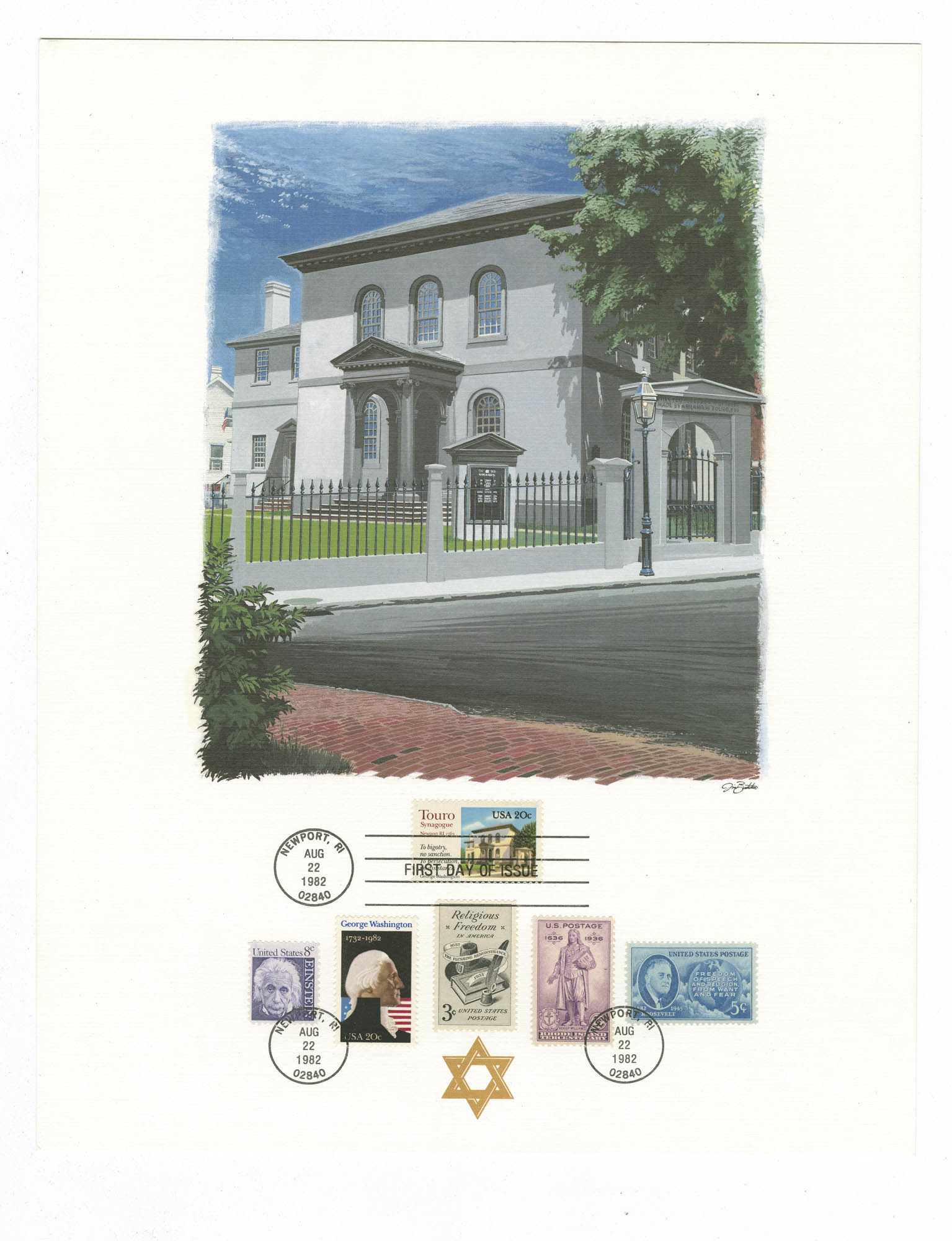 [The Touro Synagogue Collector's Panel]