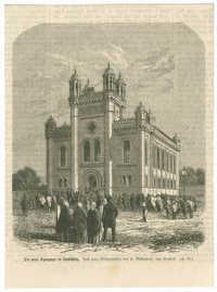 Die neue Synagoge in Leobschütz