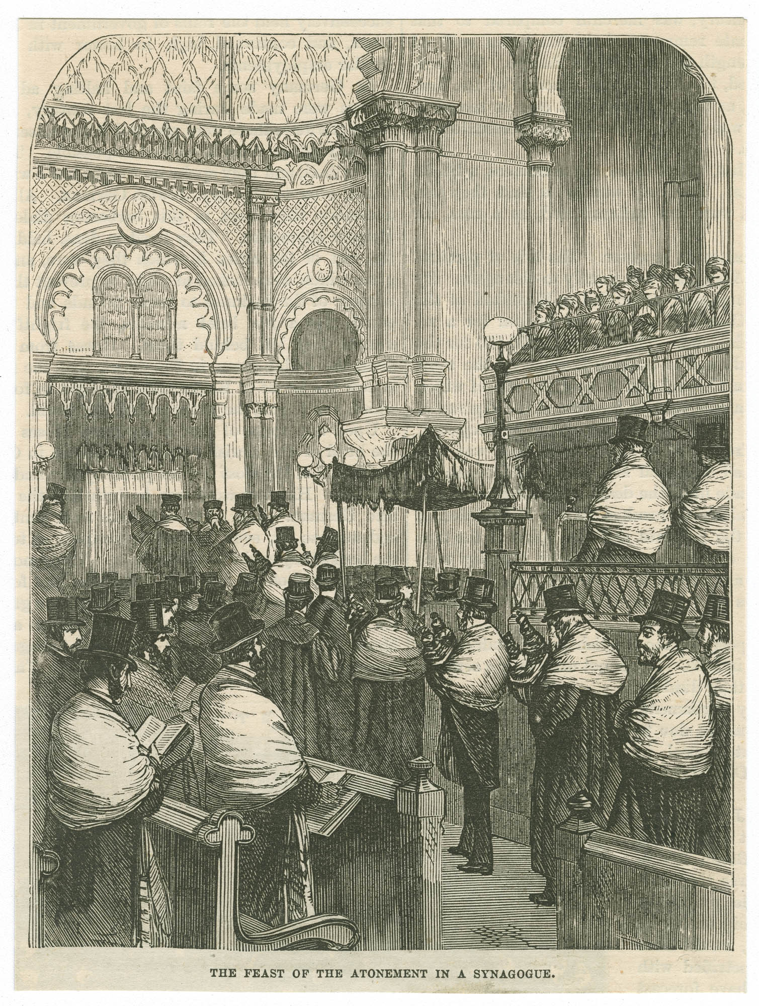 The Feast of the Atonement in a Synagogue