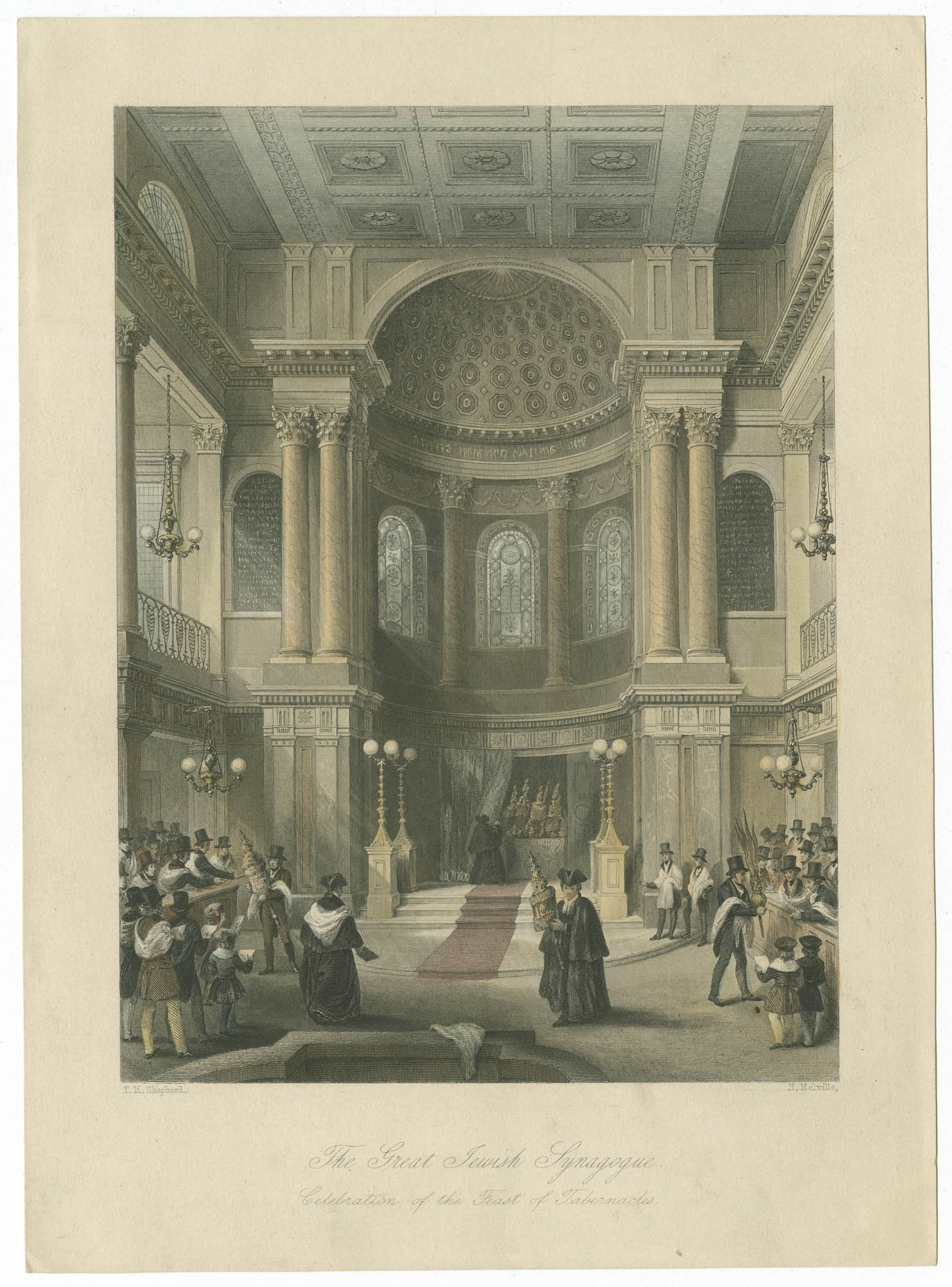 The Great Jewish Synagogue. Celebration of the Feast of Tabernacles.