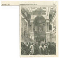 Election of rabbi, at the synagogue, Great St. Helen's