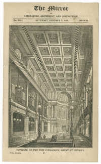 Interior of the New Synagogue, Great St. Helen's