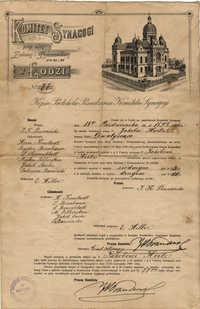 Kopia Protokółu Posiedzenia Komitetu Synagogi
