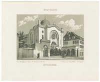 Stuttgart. Synagoge.