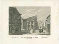 Die Haupt-Syngagoge in Fürth, erbaut im Jahre 1616. / La grande Synagogue à Furth, bâtie en 1616. / The chief Synagogue in Furth, built in the year 1616.