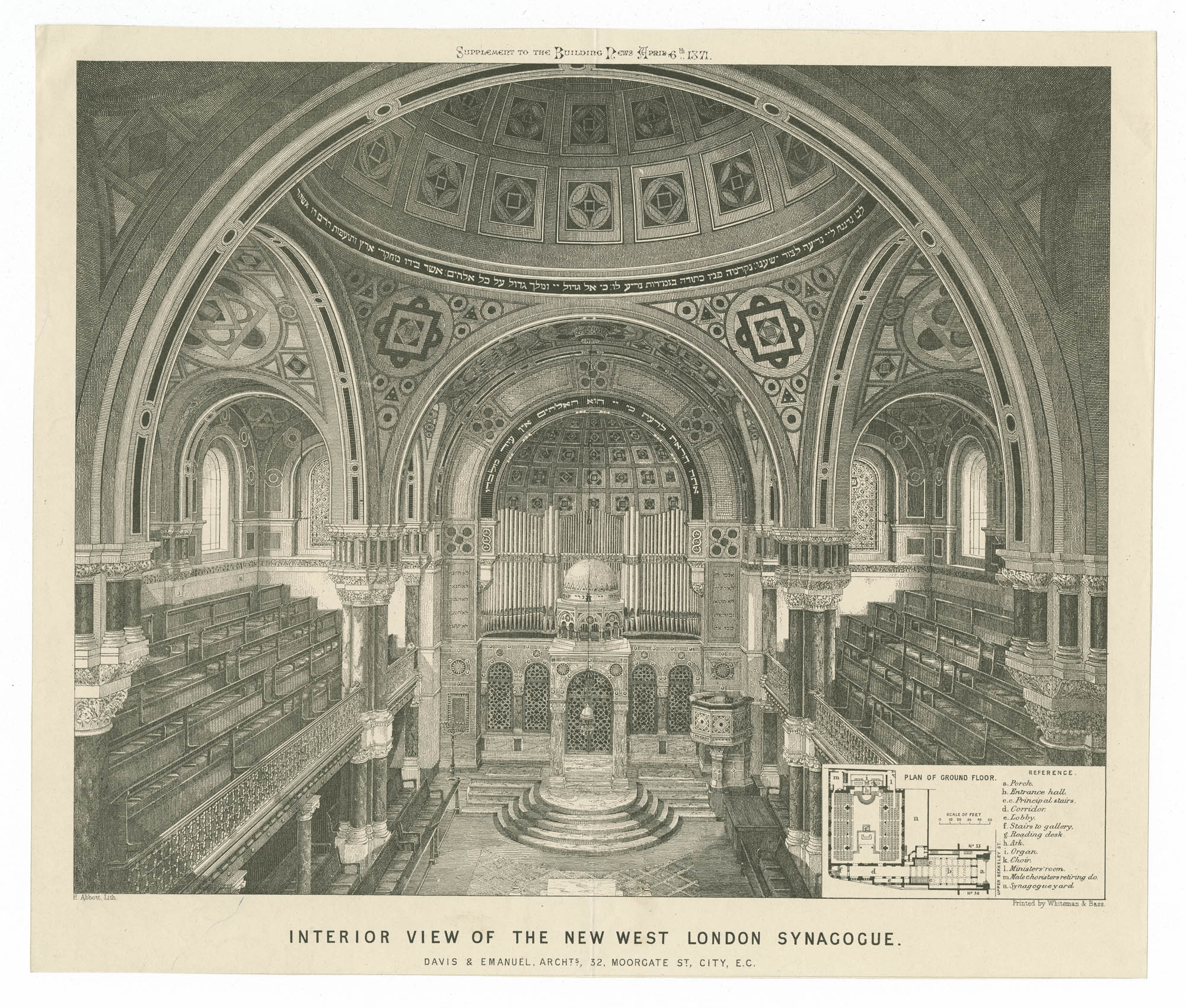Interior view of the new West London Synagogue