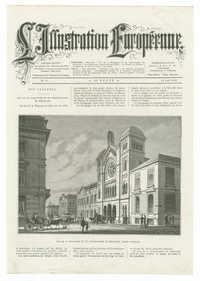 Vue de la synagogue et du conservatoire de Bruxelles