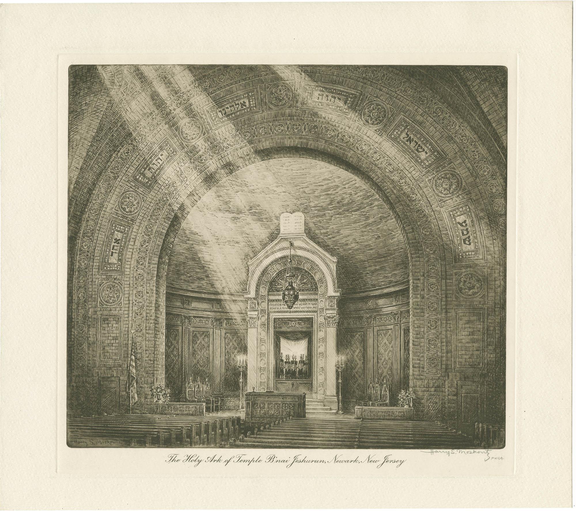 The Holy Ark of Temple B'nai Jeshurun, Newark, New Jersey