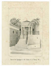 View of the Synagogue in the Island of St. Thomas W.I.
