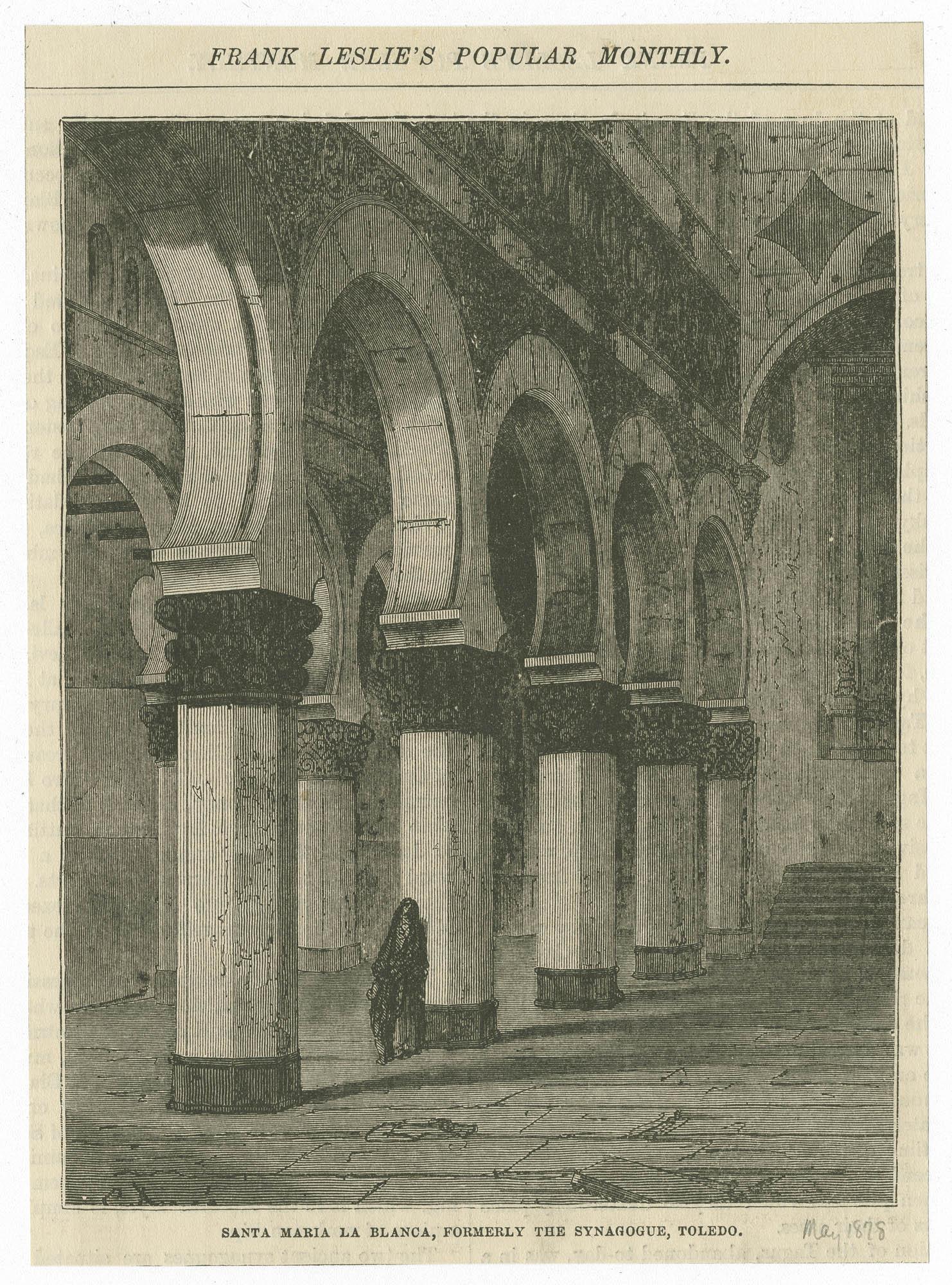 Santa María la Blanca, formerly the synagogue, Toledo