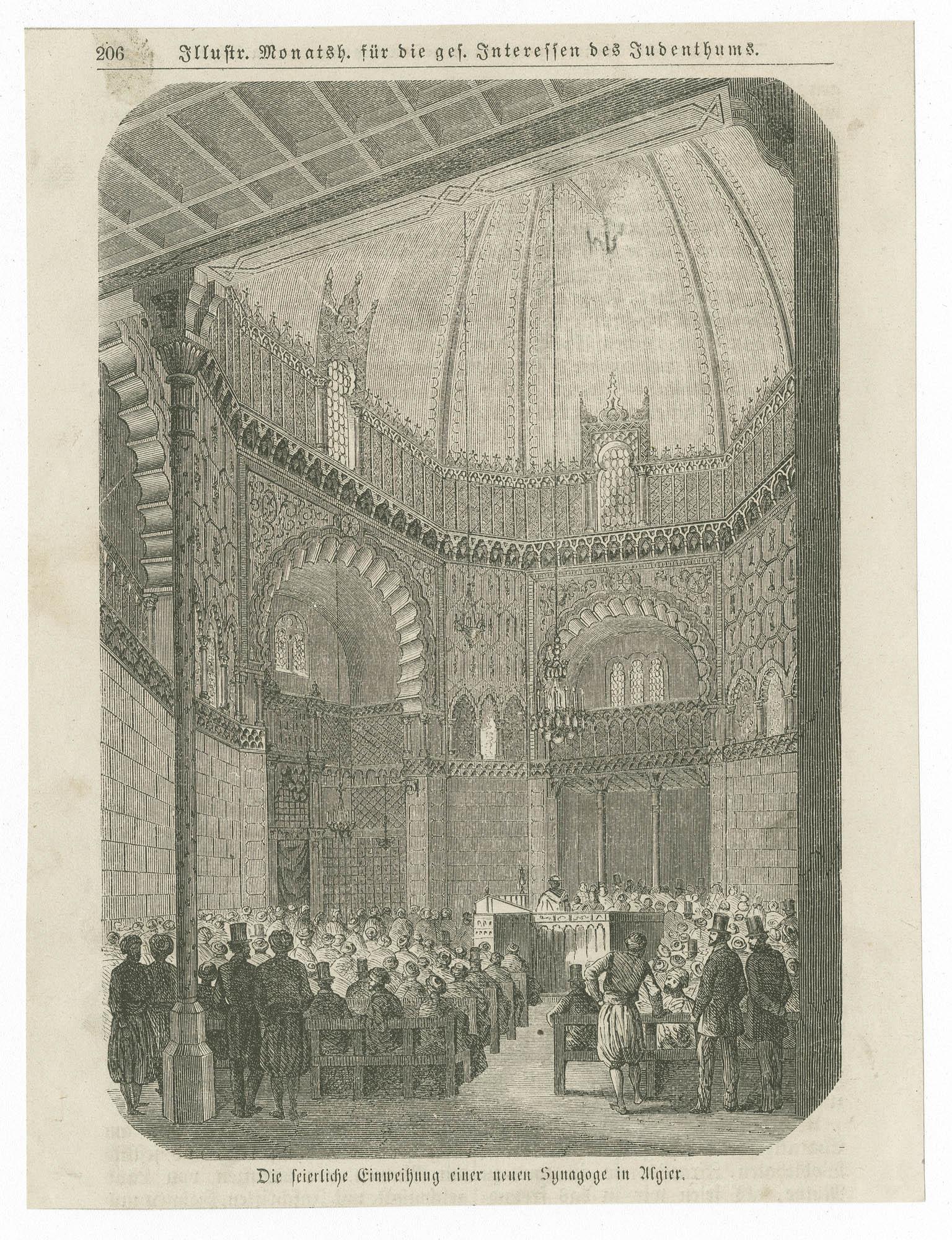 Der feierliche Einweihung einer neuen Synagoge in Algier