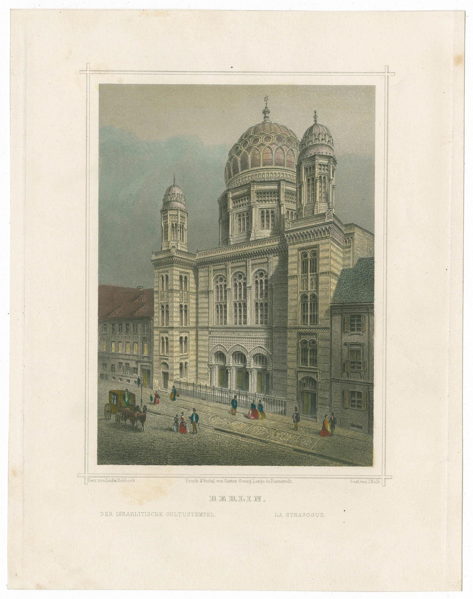 Berlin. Der israelitische Cultustempel. / La synagogue.