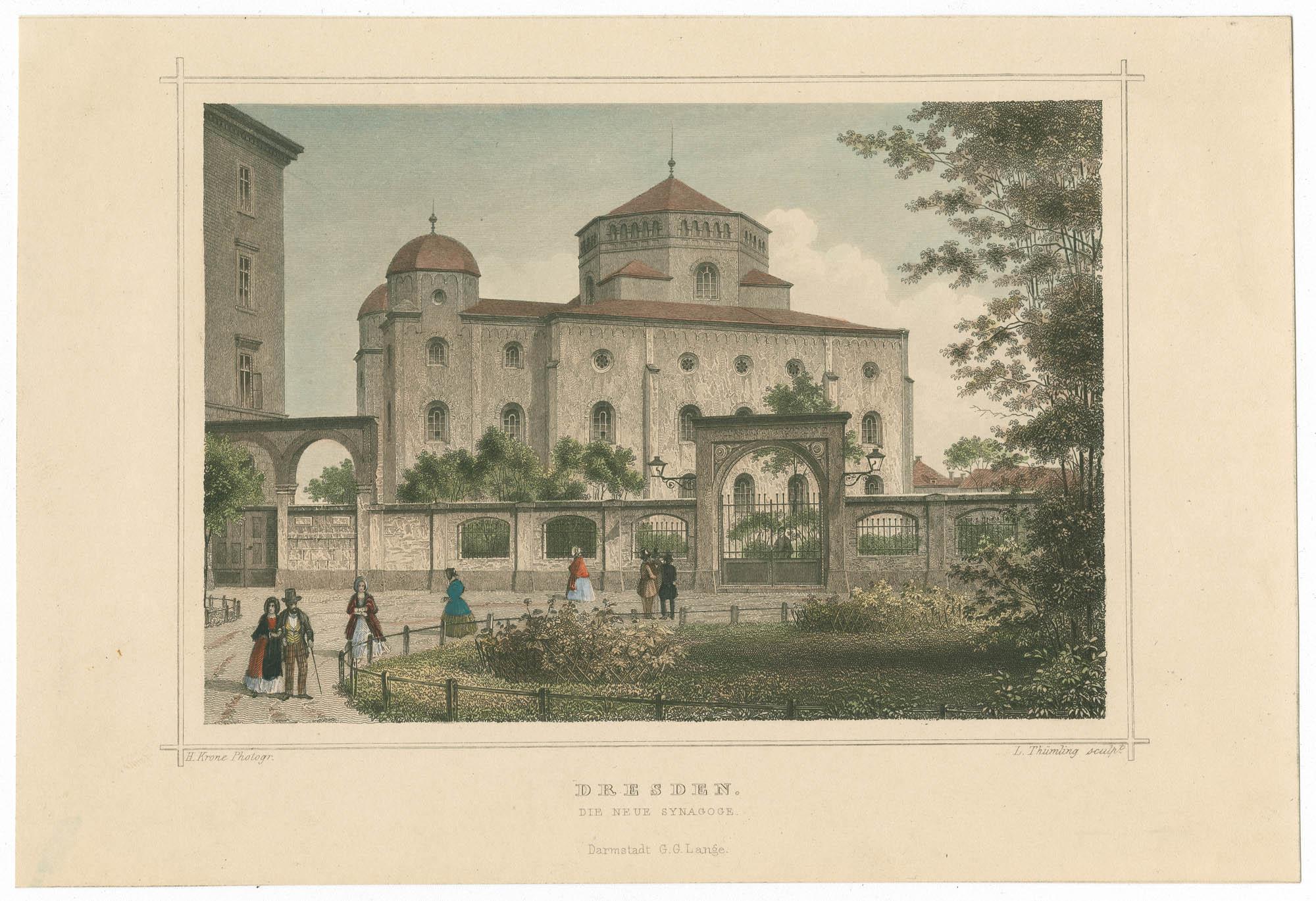 Dresden. Die neue Synagoge.