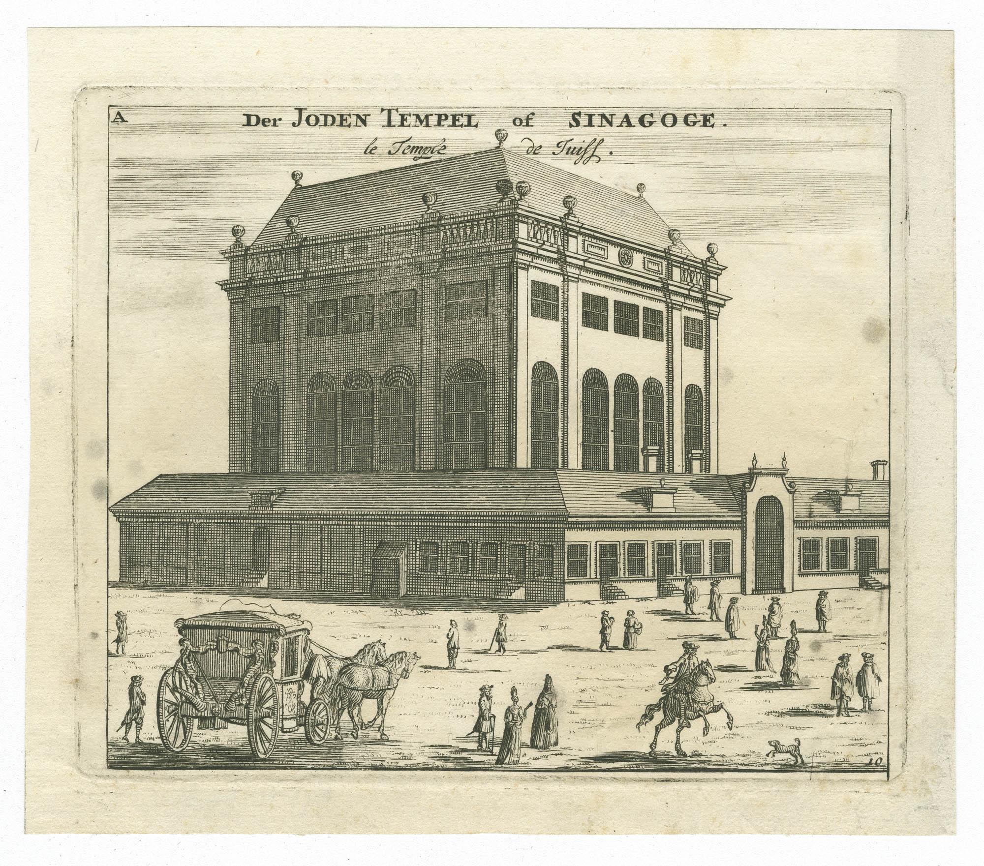 Der Joden Tempel of Sinagoge. / Le Temple de Juifs.