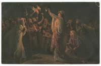 Judith zeigt dem Volke das Haupt des Holofernes
