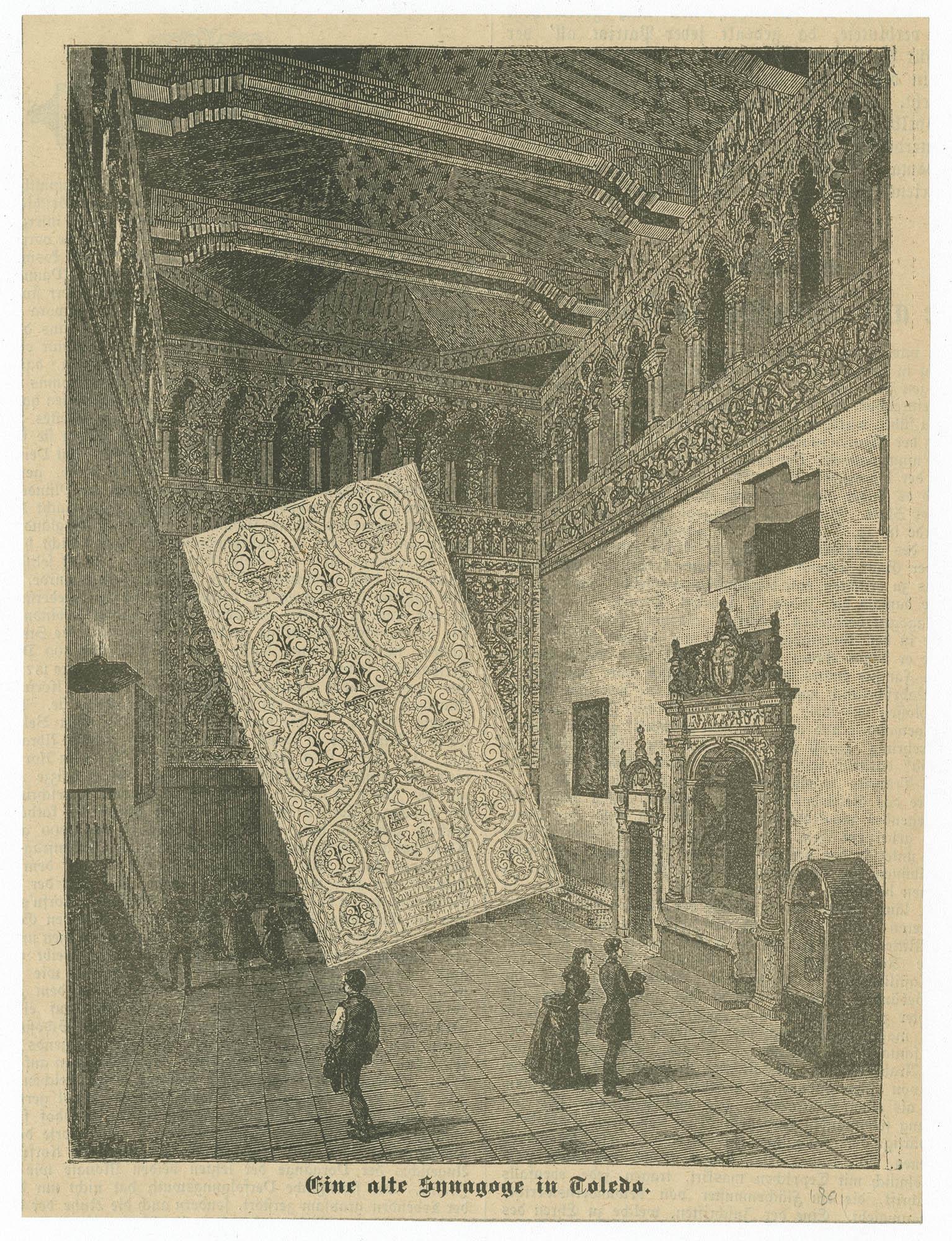 Eine alte Synagoge in Toledo