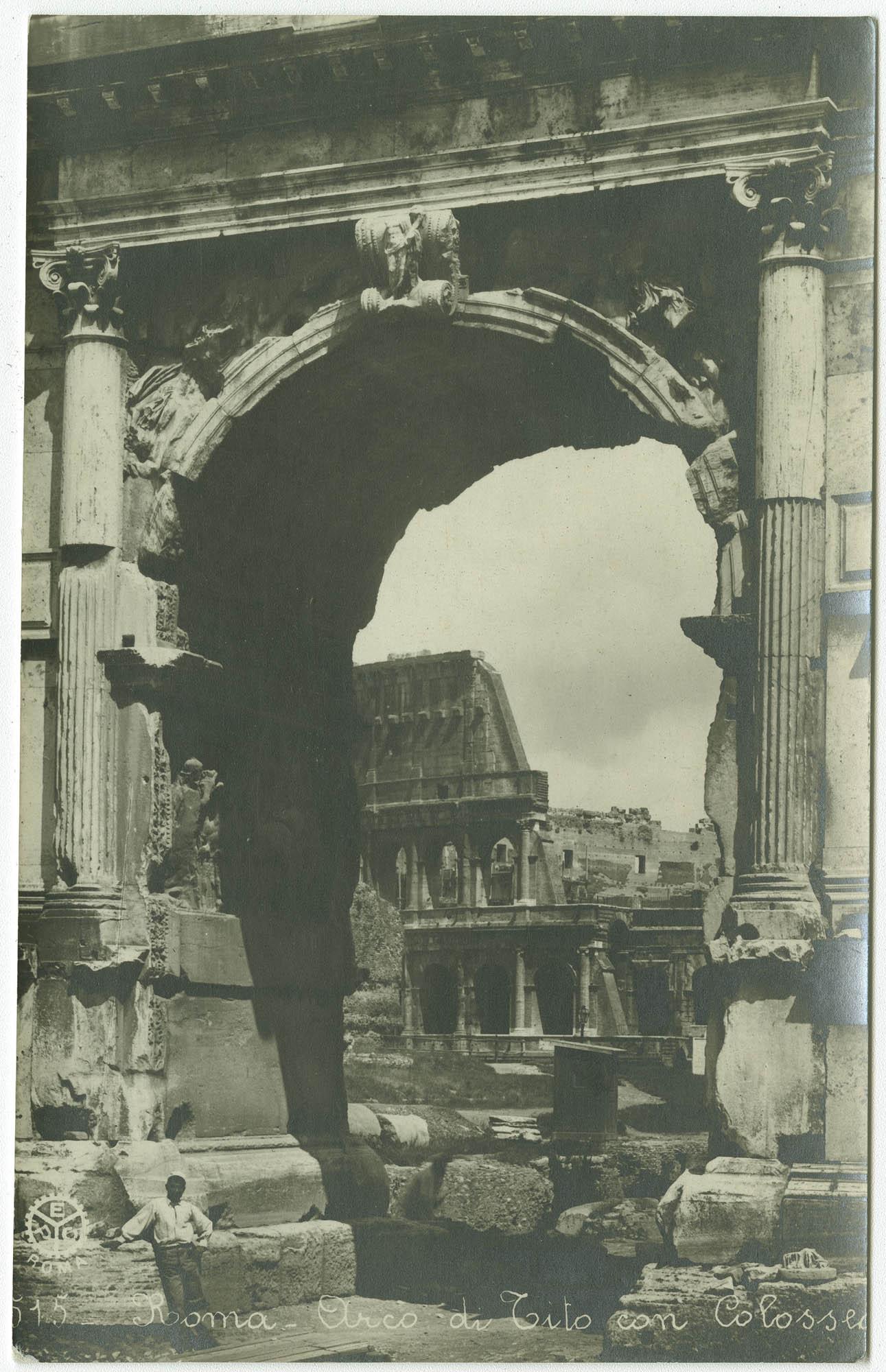 Roma - Arco di Tito con Colosseo