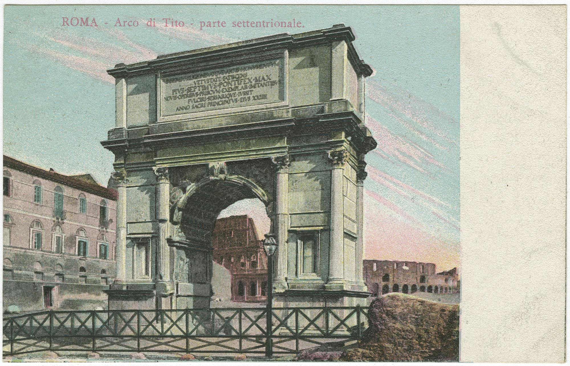 Roma - Arco di Tito - parte settentrionale