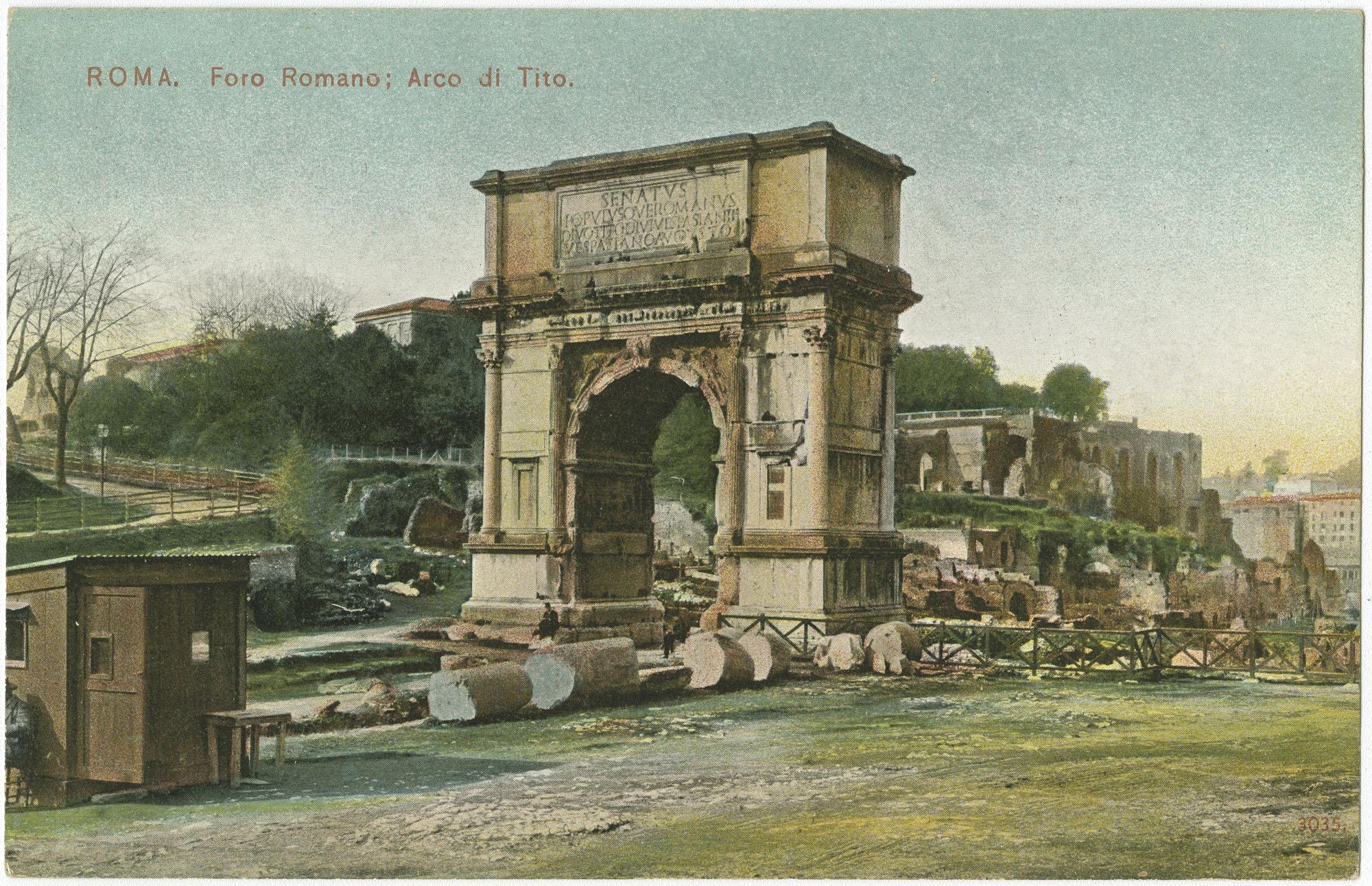 Roma. Foro Romano, Arco di Tito.