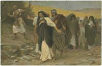 David auf der Flucht vor Absalom