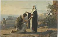 Samuel salbt Saul zum Könige